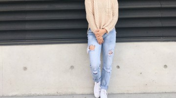 Sweater; Forever 21 - Jeans; Cotton On - Chuck Taylor 2s; Nordstrom - Annabelle Sundara