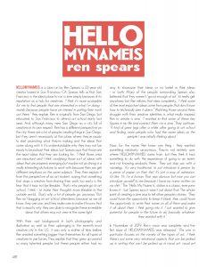 HELLOMYNAMEIS: Ren Spears